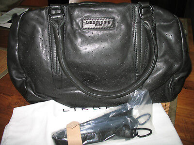 6fca551ce022c NWT Liebeskind Berlin Damen Oita Perforated leather Satchel Shoulder bag  BLACK