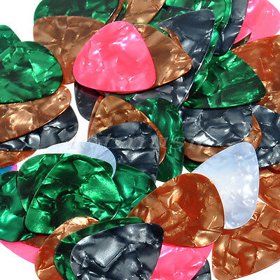 100 Pcs Acoustic Electric Guitar Picks Assorted Various Celluloid Plectrums