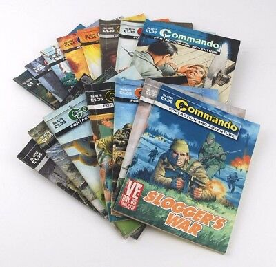 Commando Comic Books Job Lot of 15
