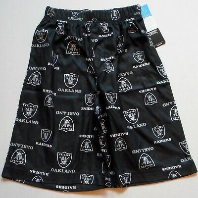 Oakland Raiders Nfl Team Apparel Youth Pajamas Lounge Shorts S M L Xl 2017