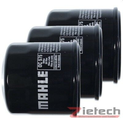 3X Mahle Ölfilter OC 575 Yamaha YFM 350 A GY Grizzly 2WD BJ. 2009