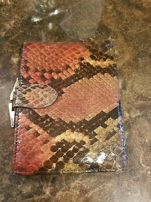 Vintage Genuine Python Leather Bosca Wallet