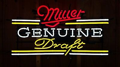 Miller Genuine Draft Neon Sign Works 100%!! Looks Great!