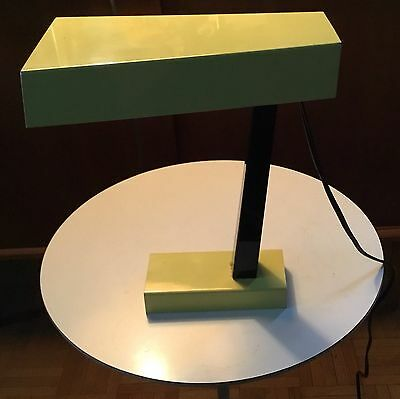 Mid Century Modern Table Lamp Enamel Metal Eames Era