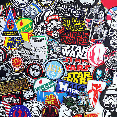 STAR WARS Iron-On Patches - Over 50 Different Styles, Classic & Modern - NEW!