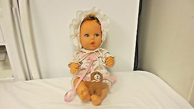 "1994 Gerber Products Toy Biz 14"" Girl Baby Doll-Bear-Jointed-Open Mouth-No Teeth"