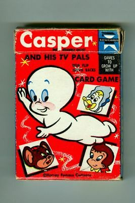 Rare Vintage CASPER the Friendly Ghost & His TV Pals Card Game! in Original Box!