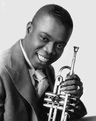Jazz Young LOUIS ARMSTRONG Glossy 8x10 Photo Print Entertainment Poster