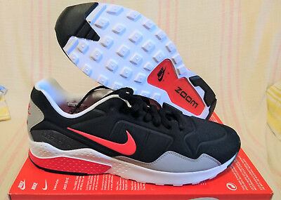 351c574c0ae8b Size 11.5 NIKE AIR ZOOM PEGASUS 92 BLACK ATOM RED WOLF GREY WHITE 844652 004