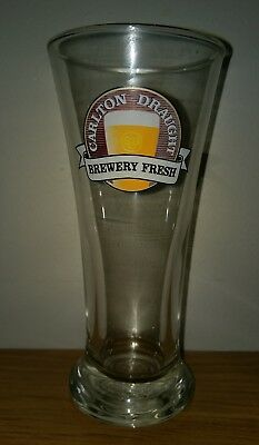 Collectable Carlton Draught Brewery Fresh 285ml Beer Glass
