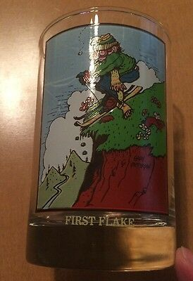 Arby's Collectors Series Gary Patterson Drinking Glass Called First Flake