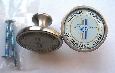 Mustang Cabinet Knobs, National Council of Mustang Clubs Logo Knobs, Ford Knobs