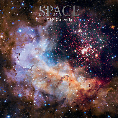 Space 2018 Wall Calendar (Gifted Stationery) Free Post