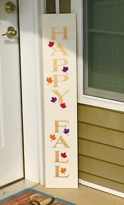 LARGE Happy FALL Rustic wood sign, farmhouse style, Fall, thanksgiving, welcome