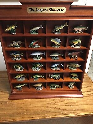 Danbury Mint Anglers Showcase Complete With 24 fish