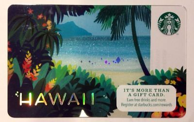 2014 STARBUCKS® Hawaii gift card Diamond Head flowers hologram NEW/MINT/UNUSED!