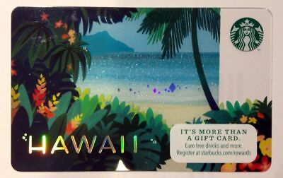 2014 STARBUCKS Hawaii gift card Diamond Head flowers hologram NEW/MINT/UNUSED!