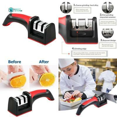 Knife Sharpener 2 Stage Professional Manual Durable Stainless Sharpening Device