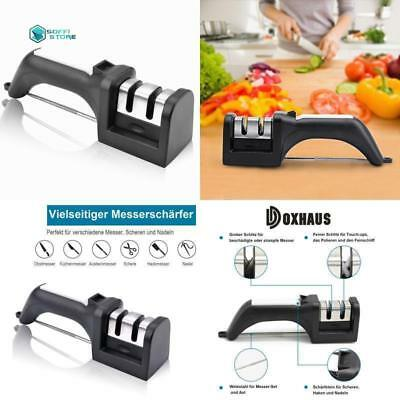 Knife Sharpener Improved Kitchen Knives Sharpening Tool w/ Extra Sharpening Rod