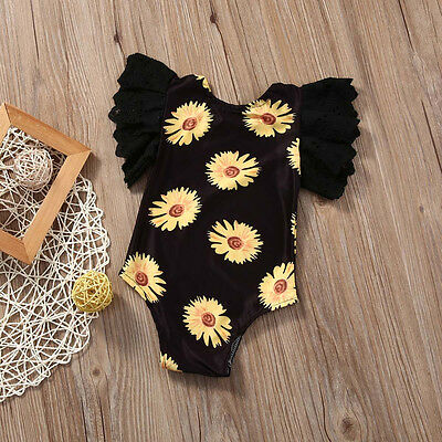 US Stock Toddler Baby Girls Clothes Bodysuit Romper Jumpsuit Playsuit Outfits