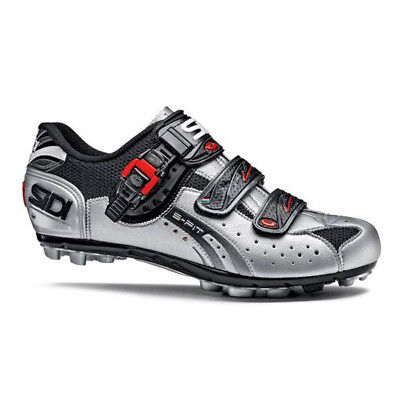 SIDI MTB Eagle 5-FIT Mens Bicycle Shoes - Black/Silver Sizes 42-48