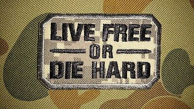 New Live Free Or Die Hard Digital Grey Tactical Morale Airsoft Patch Australia