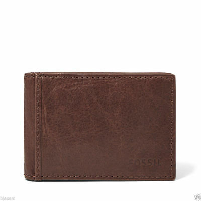 "Fossil ML3438 ""INGRAM"" Brown BiFold Money Clip Wallet ML3438200"