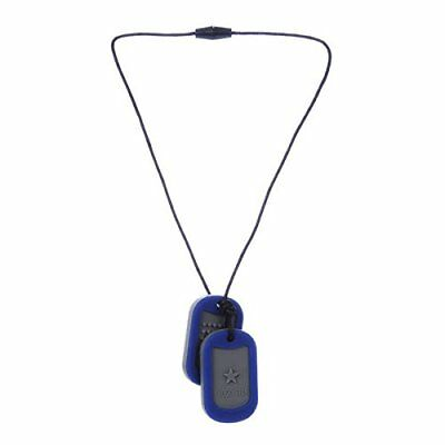 Chewbeads Juniorbeads Military Dog Tag Sensory Teething Necklace for Children,