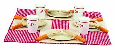 Hape Lunch Time Toddler Wooden Play Kitchen Food Set and Accessories