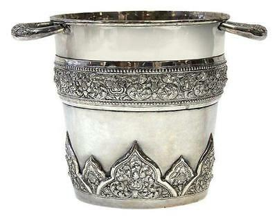 Superb Burmese .900 Silver Wine/Champagne Cooler.