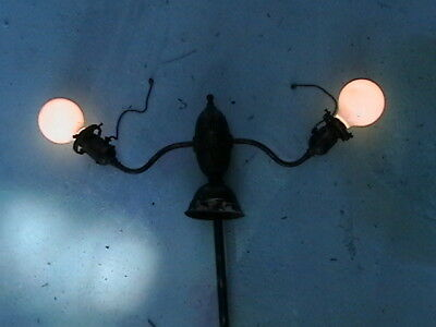 Antique Light 2 Patent 1896 Hubbell Acorn Pull Chain Socket 1890 Shade Holder #3