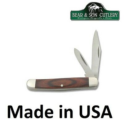 Bear MGC 2 Blade Jack pocket knife Made in USA with Rosewood Handle