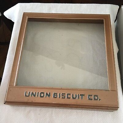 Vintage Union  Biscuit Co. Advertising Store Case, Box, Display