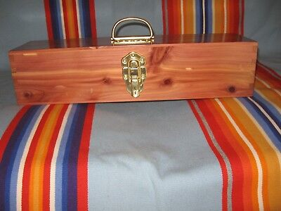 Osage made Native American Cedar Box: Church, Gourd, NAC, Feathers, PowWow