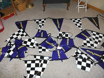 Goodyear Flag Banner New In Bag Man Cave, Racing Checkered