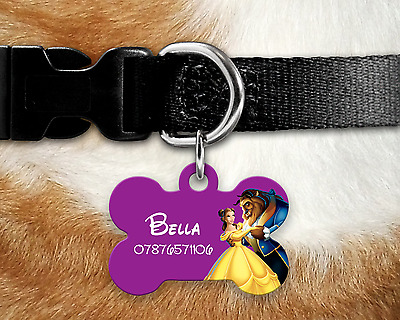 Personalised Pet Tag - ID Tag - Dog Tag - Bone Tag - Beauty & the Beast