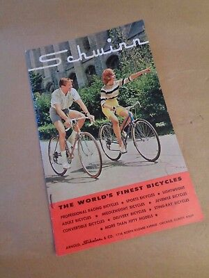 Schwinn 1964 Original Bicycle Sales Catalog~Brochure~Bikes-Paramount-Stingray