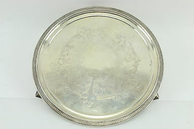 """Tiffany & Co 1568. English Sterling Silver 925 Charger Plate 10"""" - Vintage 1865"""