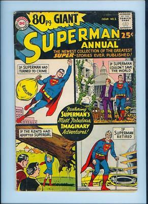 August 1965 80 Page Giant Superman Annual No. 1 Comic Book - Dc Comics