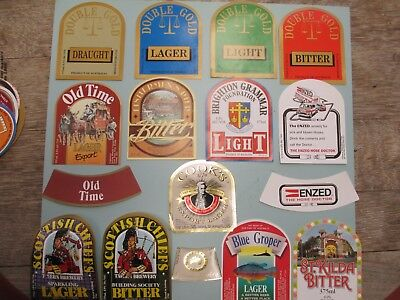 13Geelong Brewery Beer Labels plus Neck Labels