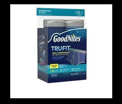 GoodNites Trufit Real Underwear for Boys Starter Pack L-XL Nighttime Protection