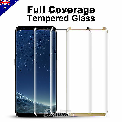 Full Cover Tempered Glass Screen Protector For Samsung GALAXY S8 Plus S7 Lot