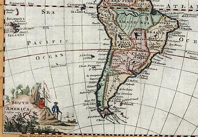 South America Patagonia Terra Firma Amazonia Pacific South Sea 1758 Jefferys map