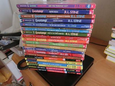 Lot of 20 R.L. STINE Books GOOSEBUMPS, Seniors, Fear Street Paperback