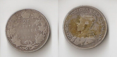 Canada 25 cents 1931