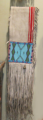 1880s Blackfoot Beaded Double Saddlebags onThick Elk? Hide... a Deal and a Half