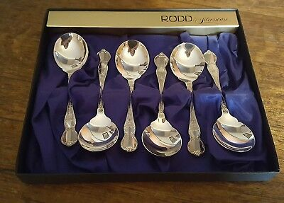 Rodd Camille Silver Plate Sweets Spoons Original Box