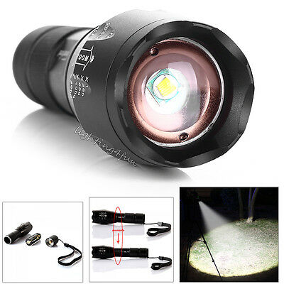 T6 Cree Flashlight 1000LM Long Range Torch High Power LED Police Army Security
