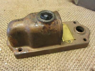 Vintage Brass Door Bell Lighted Cover w Colored Glass > Lens Antique 8647