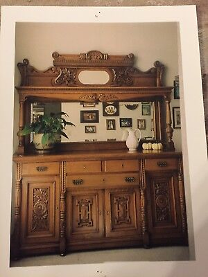 antique sideboard in good condition  - great display piece